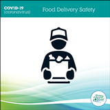 """Graphic titled """"Food Delivery Safety"""""""
