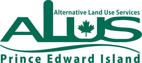 Logo with green text that says Alternative Land Use Services ALUS Prince Edward Island