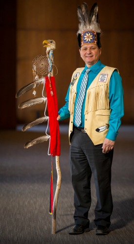 This is a photo of Abegweit First Nations Chief Brian Francis