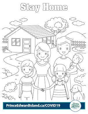 Covid-19 Colouring Pages