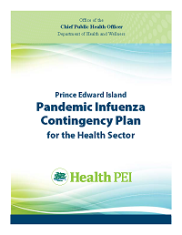 Cover of the Prince Edward Island Pandemic Contingency Plan