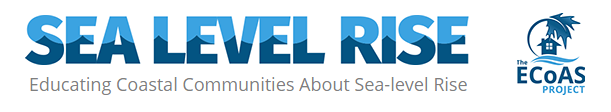 This is the logo for The Educating Coastal Communities About Sea-level Rise (ECoAS) Project.