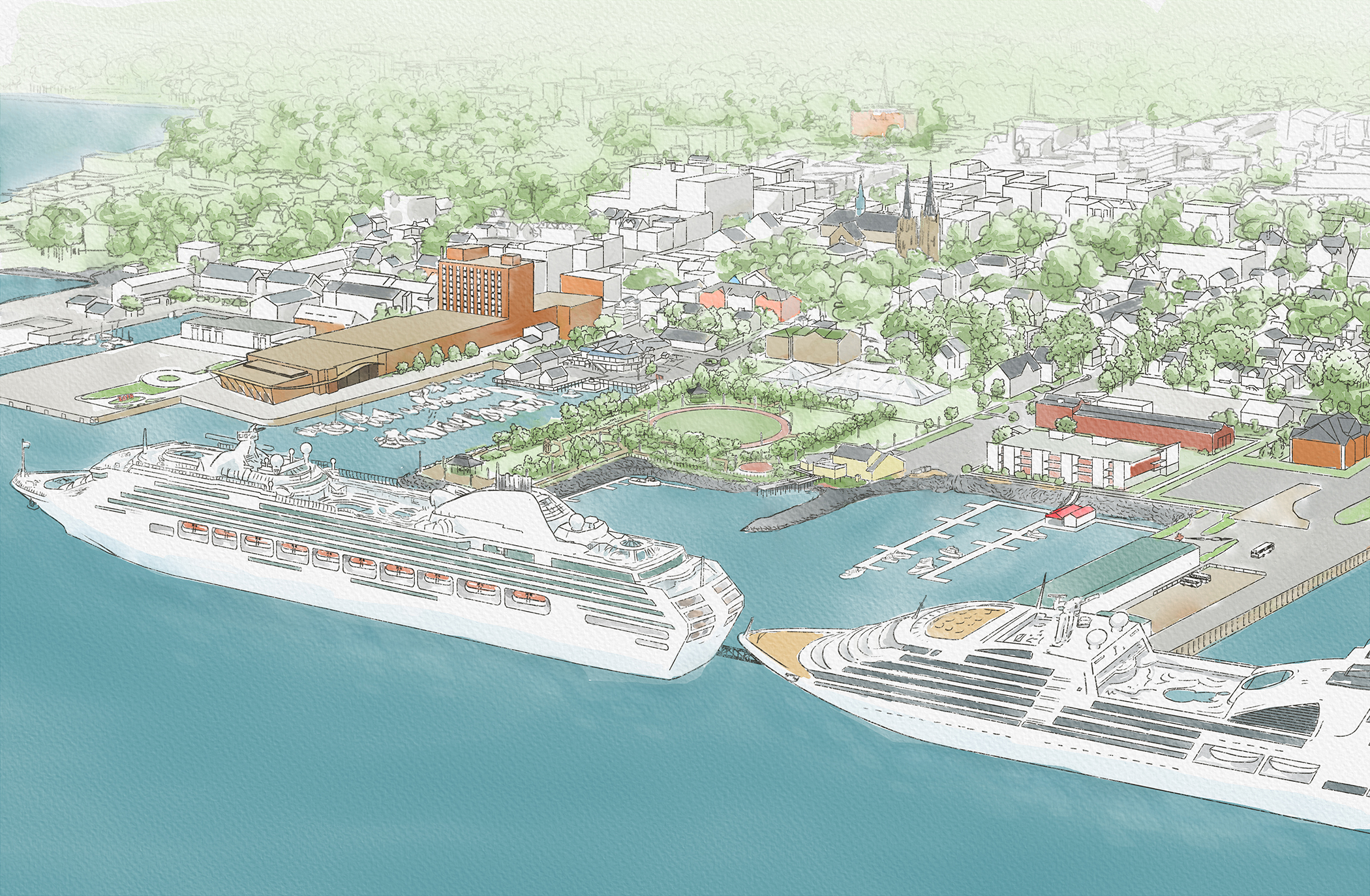 Artist rendition of Port of Charlottetown expansion
