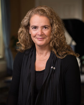 Official portrait of Her Excellency the Right Honourable Julie Payette, Governor General and Commander-in-Chief of Canada