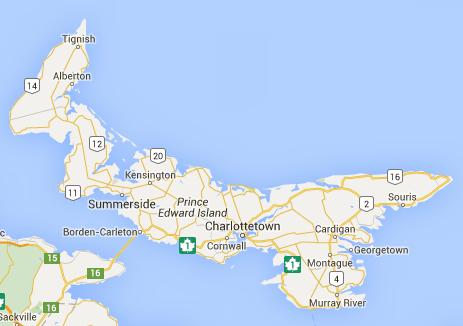 Carte de Île-du-Prince-Édouard