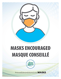 Face Masks Recommended Poster