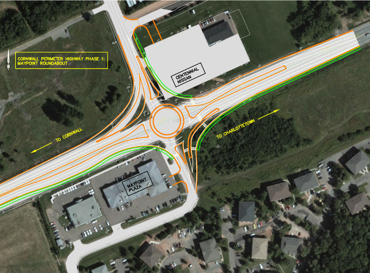 Cornwall Perimeter Highway - Maypoint Road roundabout