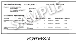 Northwest Territories Sample of Proof of Vaccination Records