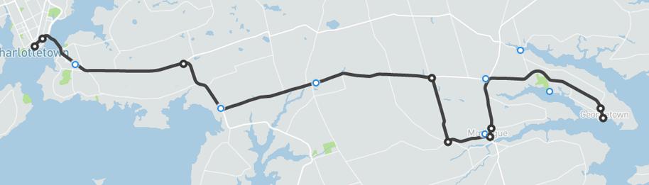 Georgetown to Charlottetown Transit Map
