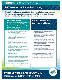 Thumbnail for Self-Isolation vs Social Distancing Information Sheet COVID-19