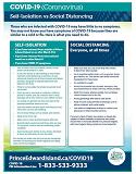 Thumbnail for Self-Isolation vs Social Distancing Information Sheet COVID-19