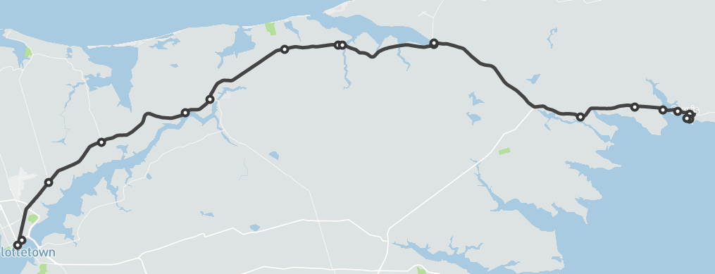 map Georgetown to Souris