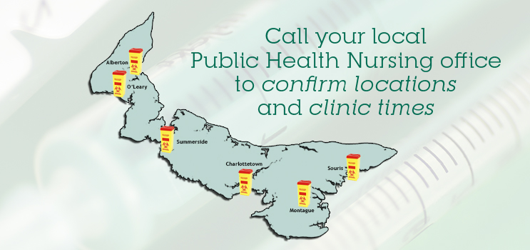 Needle Exchange Program - Call your local Public Health Nursing to confirm locations and clinic times