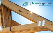 Image of roof trusses with hometogether pei logo