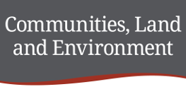 Communities, Land and Environment department logo