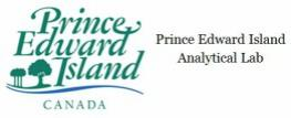 Provincial logo with PEI Analytic Lab
