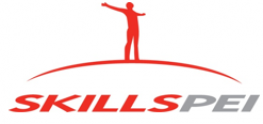 Skills PEI logo in red and white