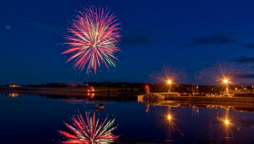 Fireworks for Canada Day in Rustico, Prince Edward Island
