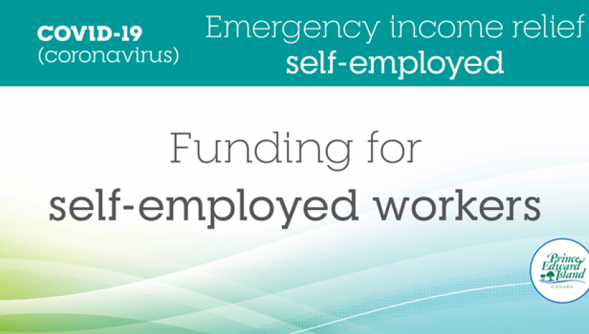 """Image that shows the text """"COVID-19 - Emergency income relief self-employed - Funding for self-employed workers"""