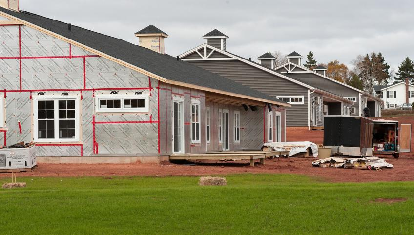 PEI house under construction