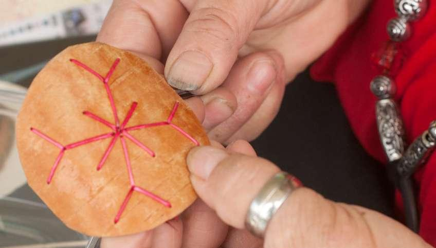 Female crafter at National Aboriginal Day