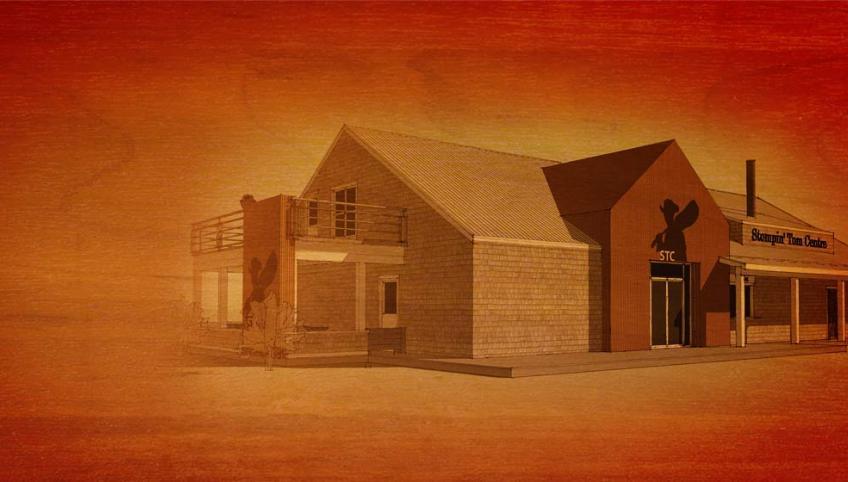 Graphic of new Stompin' Tom Centre, Skinner's Pond, PEI