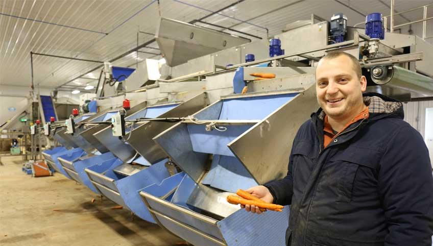 Matt Dykerman with his new, safer farm equipment
