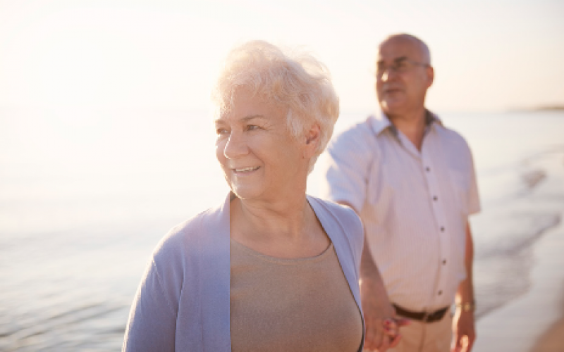 IMage of older male and female on a sunny day