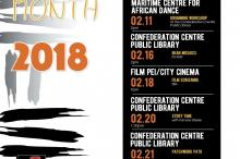 Black History Month 2018 poster for PEI with event listings