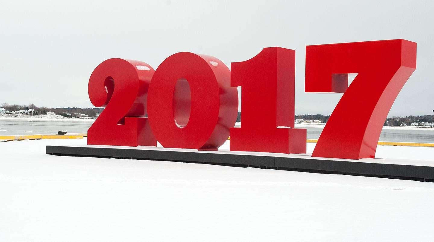 Charlottetown's '2017' sign on the waterfront
