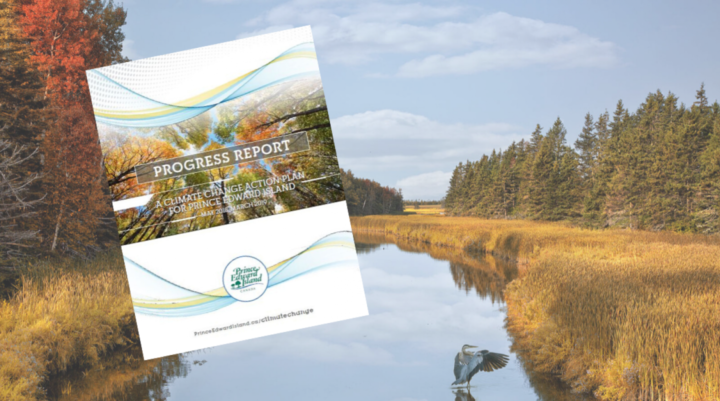 Thumbnail of Climate Change Action Plan Progress Report with image of fall foliage