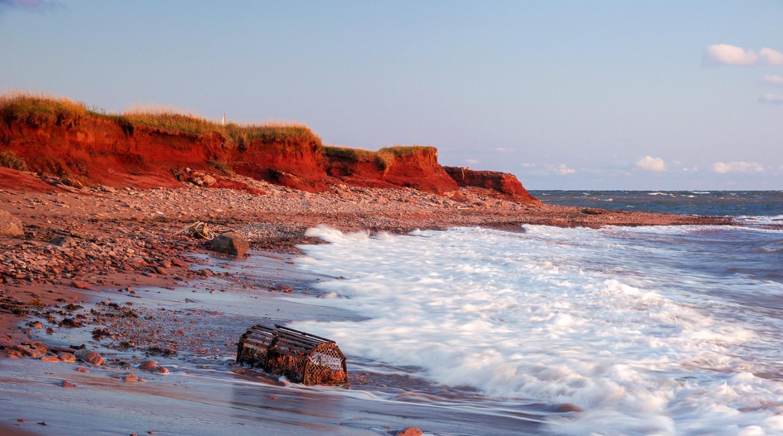 photo de falaises rouges à l'Île-du-Prince-Édouard