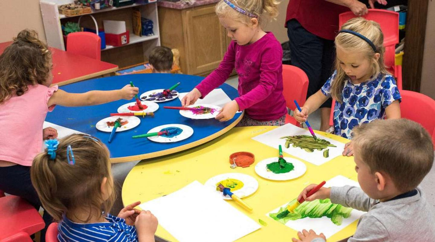 Group of children in PEI Early Learning and Child Care Centre