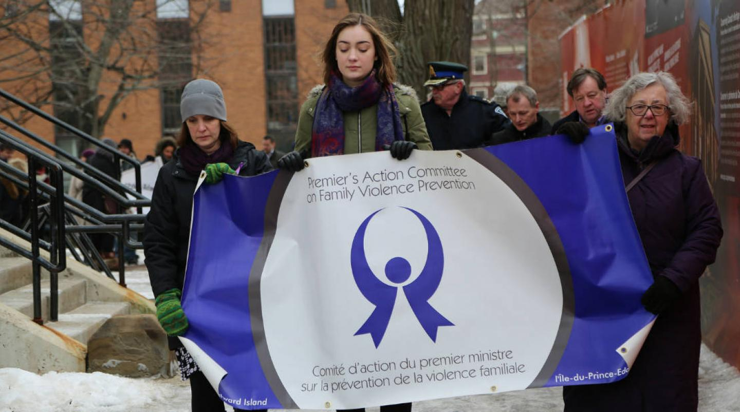 Walk in Silence event on Charlottetown street