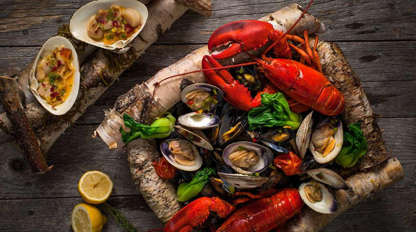Platter of PEI seafood for Best of Sea campaign