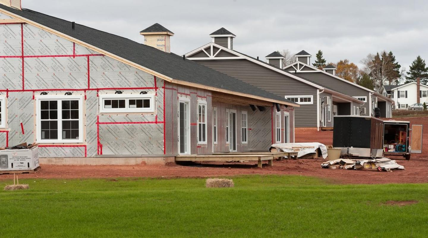 Residence under construction in Charlottetown, PEI