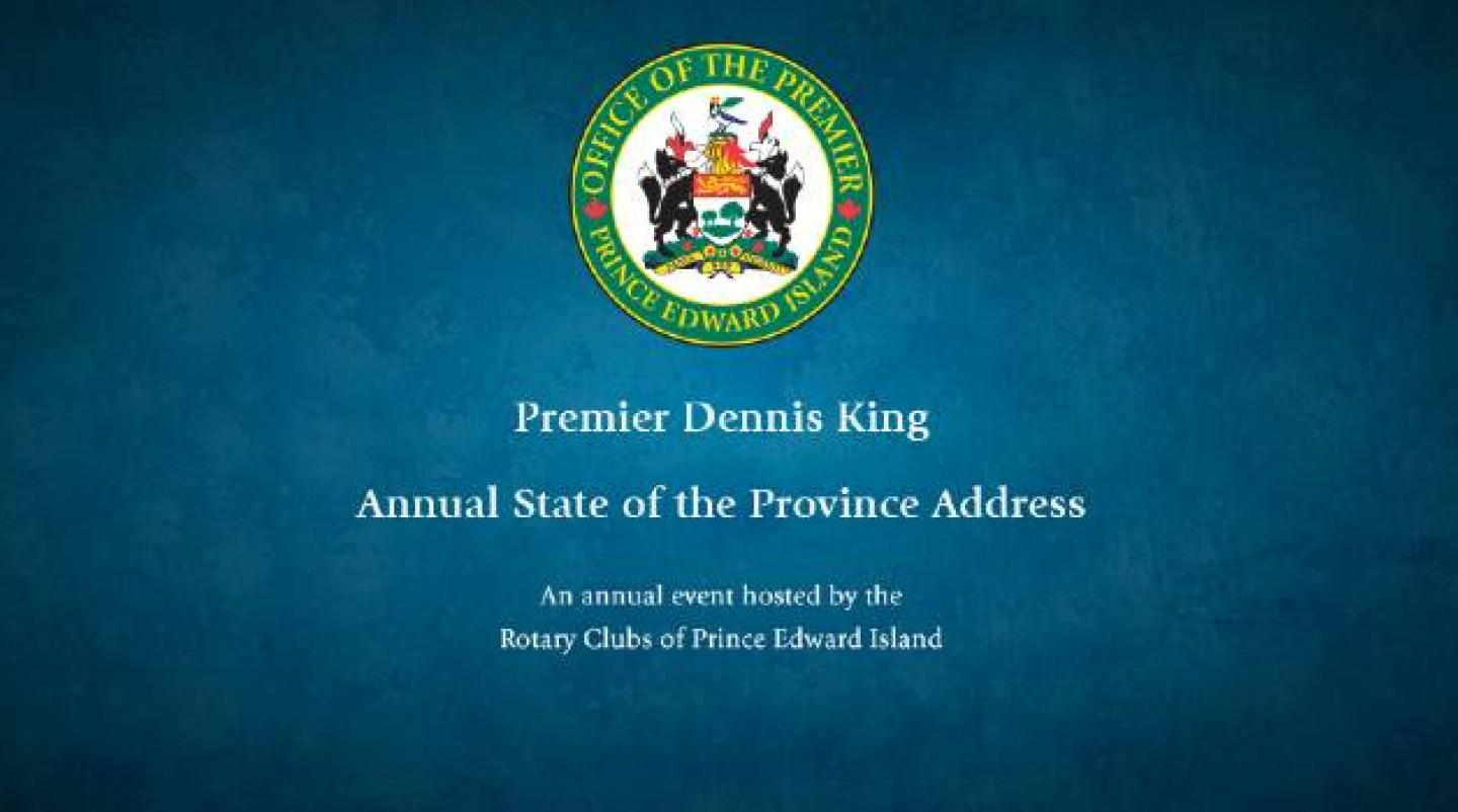 2021 State of the Province Address Banner