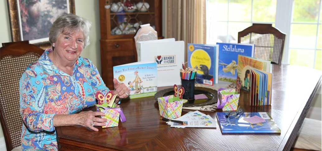 Early Childhood educator Alice Taylor with some of the books she uses for the Handle with Care program