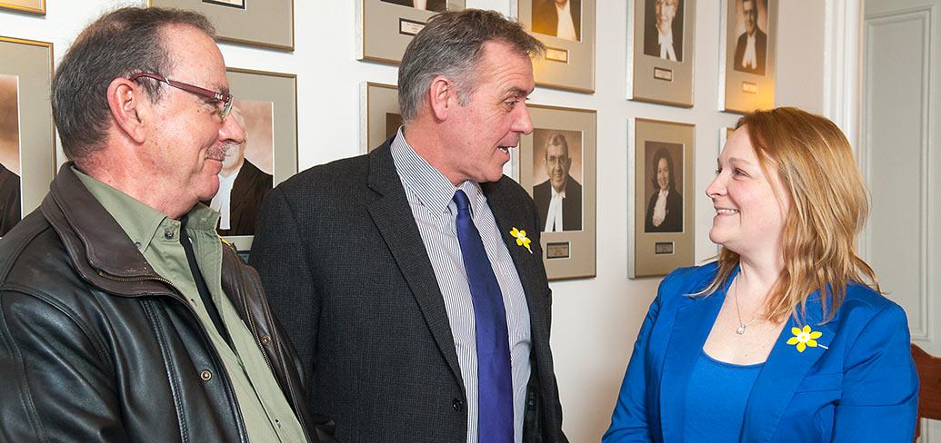 Peter Dunfield, Minister Robert Mitchell and Jayna Stokes