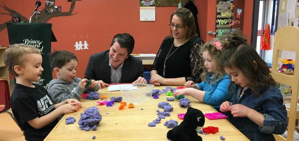 Minister Jordan Brown and owner of Kidz Corner Early Learning Academy Josie Sheehan