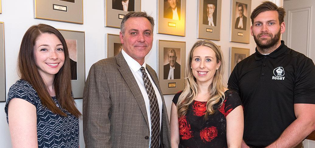Robyn Connors, Minister Robert Mitchell,Tessa Roche, and Kyle Robertson.
