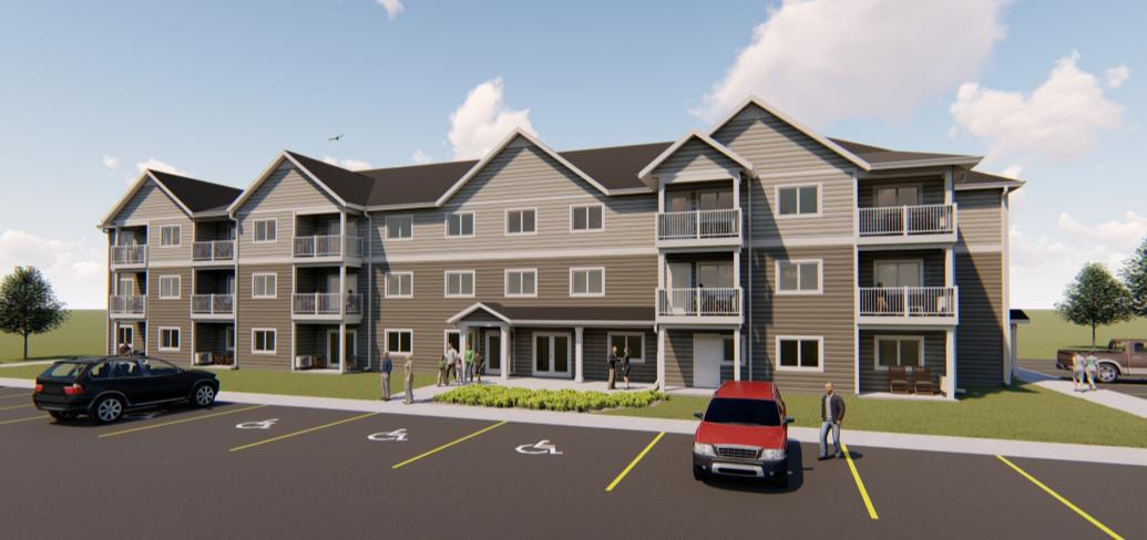 Architects drawing of new 20-unit affordable housing development for seniors on Pioneer Drive  in Charlottetown