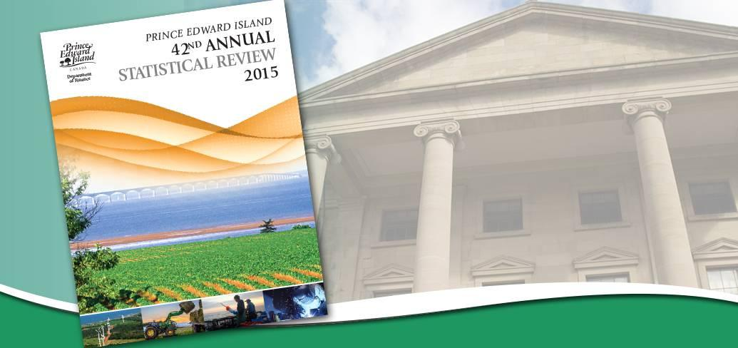 Cover of 2015 Annual Statistical review with image of Province House in background