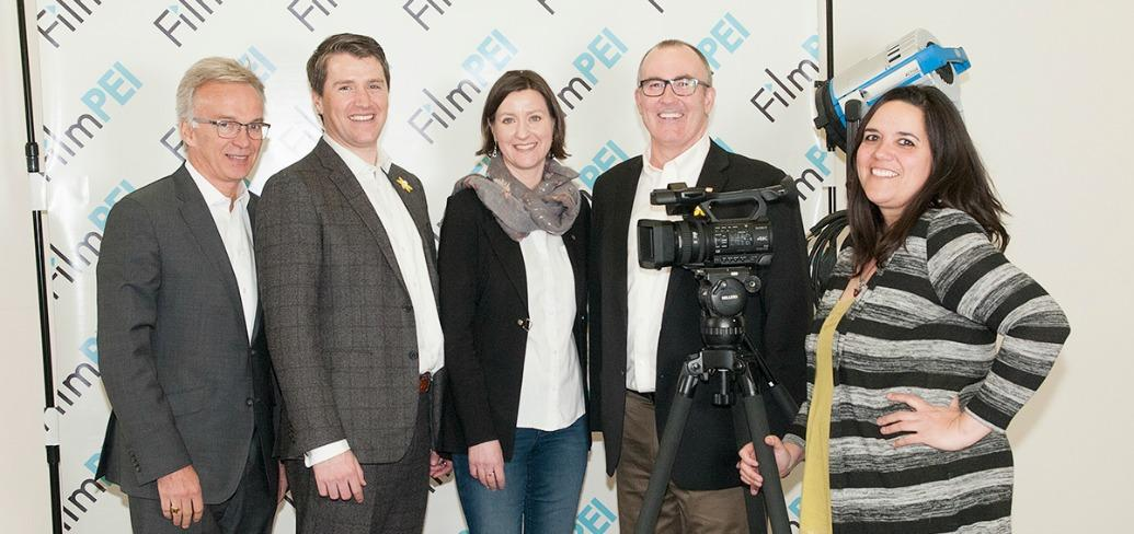 MP Sean Casey, Minister Jordan Brown,Emma Fugate, Minister Chris Palmer, Renee Laprise