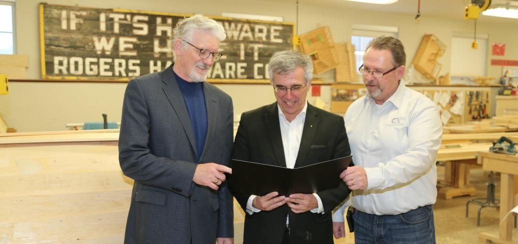 (L-R) Sandy MacDonald, Richard Brown and Sam Sanderson.