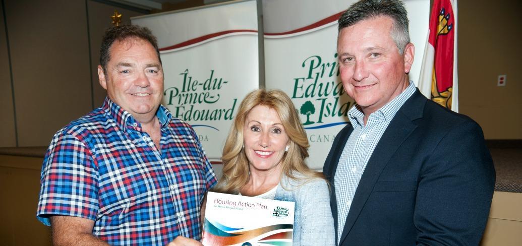 John Horrelt, Minister Tina Mundy and Minister Heath MacDonald.