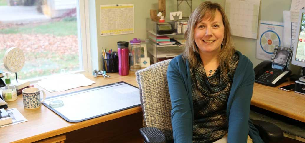 Senior Addictions Counsellor Jody MacLellan in her office at the Provincial Addictions Treatment Facility in Mt. Herbert.