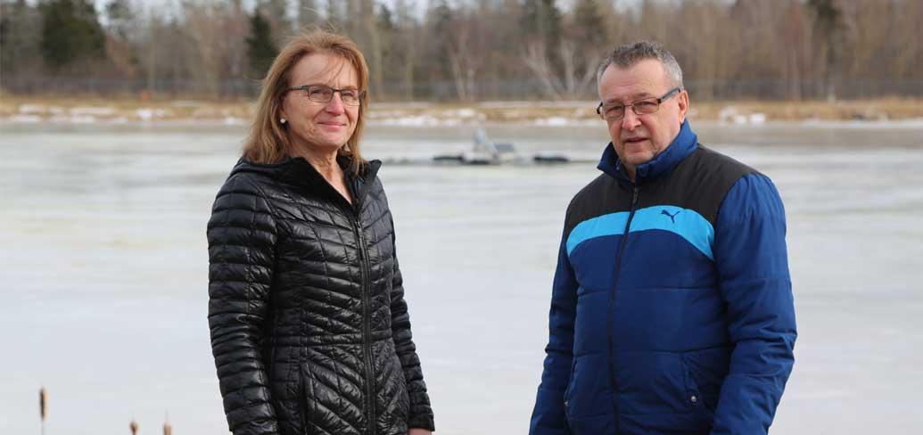 Georgetown CAO Dorothy MacDonald and Mayor Lewis Lavandier