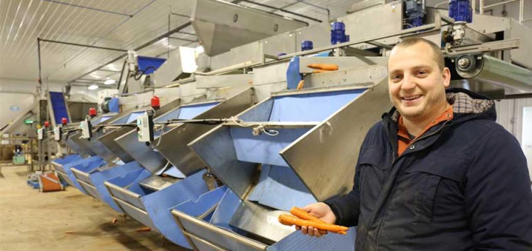 Matt Dykerman with his new, safer farm equipment