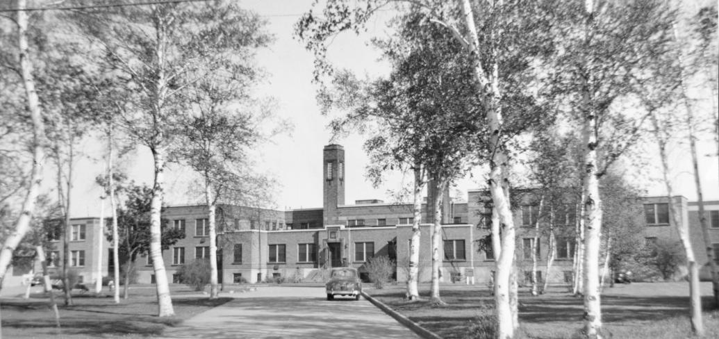 Picture of hospital in 1950s